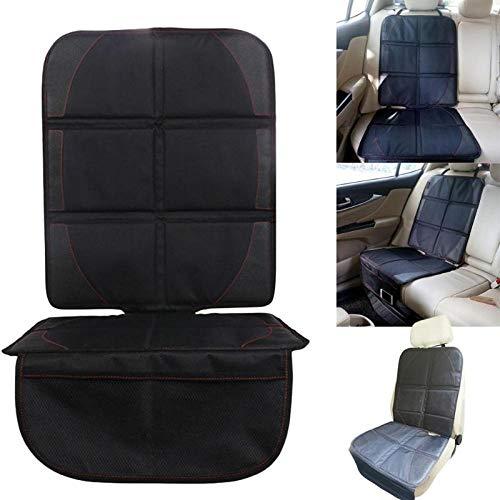 WANGXIAO Car Seat Cover Protector Seat, Universele Polyester PU bescherming Kussen Pad Mat Kind Baby Kinderstoelen Auto Accessoires Zwart.