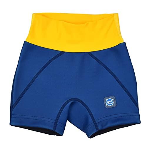Splash About Toddler Jammers Navy Yellow Years Bañador para niños pequeños, Unisex Juvenil, Azul Marino/Amarillo, 3-4 años