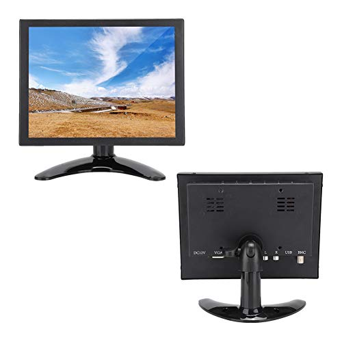 Goshyda Monitor, 8 Pulgadas 4: 3 1024x768 Pantalla táctil de Resistencia HDMI/VGA/BNC/AV Monitor Industrial para PC, TV, CCTV, Cámara, Seguridad, Computadora, Drone, para Raspberry Pi(EU)