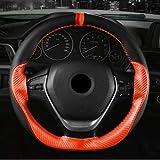 Denkqi 15' / 38cm de Fibres de Cuir à la Main à Coudre Volant Couverture antidérapage Braid-Volant Point sur Wrap avec Aiguille et Fil (Color Name : Orange)