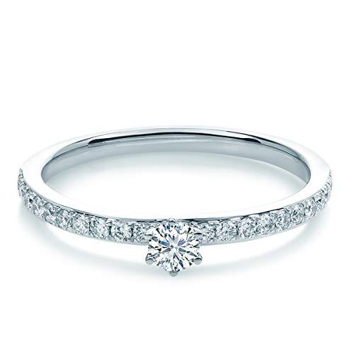 Tresor 1934 Damen-Ring Diamant 0,35 Weißgold Goldring Diamantring Verlobungsring
