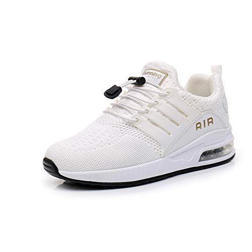 Uomo Sneakers Scarpe Ginnastica Scarpe Ginnastica Running Trekking Palestra Uomo Sportive Offerta da Corsa Lavoro Moda Sneakers Walking Casual Running Shoes Gym Sport Tennis Shoes White 42