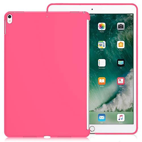 KHOMO Funda iPad Air 3 10.5 (2019) / iPad Pro 10.5 (2017) Carcasa Trasera Ultra Delgada y Ligera Compatible con Smart Cover - Rosa Oscuro
