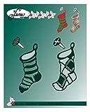 lene Troqueles de diseño de botas navideñas