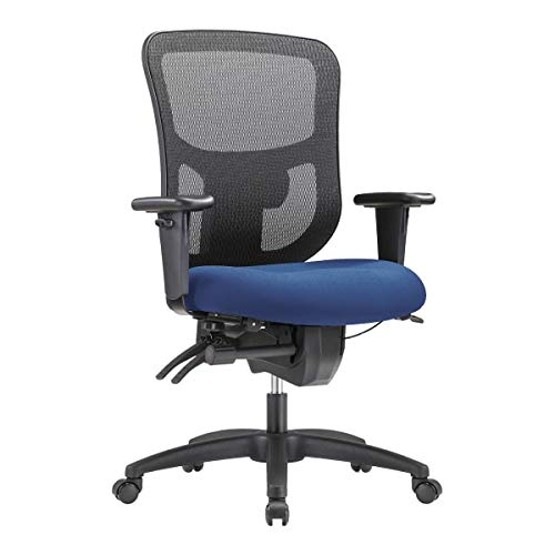 WorkPro 9500XL Big and Tall Fabric/Mesh Mid-Back Multifunction Chair, Royal/Black