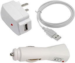 USB Car Charger + USB Home Travel Charger + USB Data Cable for Samsung Hercules SGH-T989