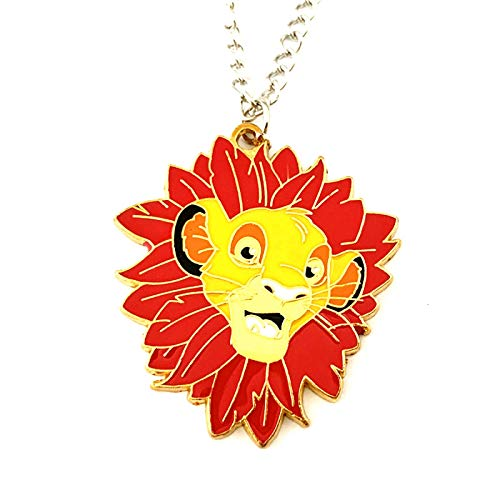YUNMENG Quality Anime Cartoon Cosplay Metal Jewelry The Lion King Simba Necklace Gifts for Woman Girl Men