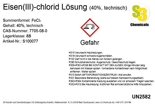 Eisen(III)-chlorid Lösung (40%, technisch) Gebindegröße 2,5 Liter