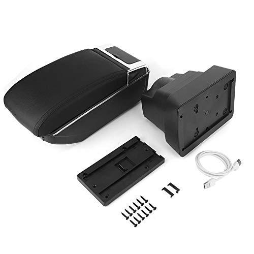Qiilu scatola portaoggetti bracciolo centrale con portabicchieri Posacenere adatto per Astra J Universal
