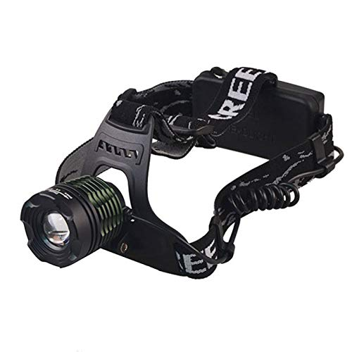 whbage Linterna Frontal Led Headlamp High Power Led Headlight 3-Mode Zoom Head Torch Rechargeable Power Bank Flashlight