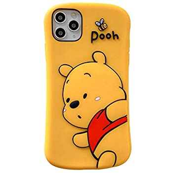 Shockproof Ultra Thick Soft Silicone Case Cover for Apple iPhone 12 Pro Max Winnie The Pooh Bear Honey Bee Yellow Walt Disney Disneyland 3D Cartoon Cute Lovely Funny Kids Girls Women