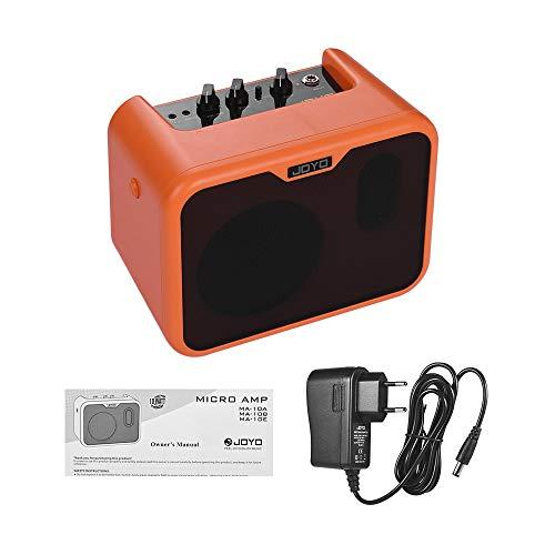 Muslady JOYO MA-10A Mini Altavoz Amplificador de Guitarra Acústica Portátil 10 vatios Amperios Canales Duales Normales/Brillantes con Adaptador de Corriente