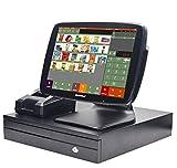 ZHONGJI Système de point de vente de détail comprend pc tactile, imprimante de réception, Tiroir-caisse, scanner de code à barres, logiciel POS SET01