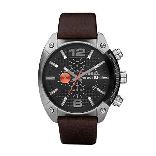 Diesel Herren Chronograph Quarz Uhr mit Leder Armband DZ4204