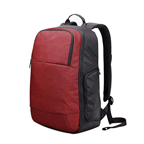 Wind Took Backpack for 15.6-Inch Laptop and Notebook Men's Travel Rucksacks Water Repellent Daypack Work Bag with USB Charging Port for Business School Uni, Red