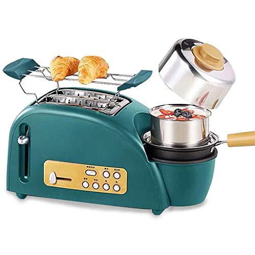 Máquina De Hacer Pan Con El Sartén Y El Recipiente Vaporizador, Función De Protección De Seguridad Doble Prevenir Jam Múltiples Funciones Desayuno Máquina, Para Cocinar Al Vapor Freír Hornear