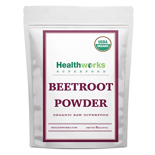 Healthworks Beetroot Powder (8 Ounces) | Raw & Certified Organic | Vegan, Keto & Non-GMO | All-Natural Energy Boost | Great with Juices, Smoothies & Drinks