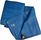 Tela Lona de polietileno ojal con esquinas reforzadas multiusos para coberturas antilluvia impermeable Color Azul GR/m2–90, azul