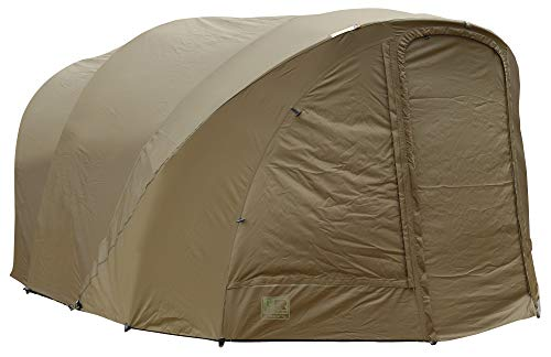 FOX R-Series 2 Man XL Khaki Wrap - Zeltüberwurf für Karpfenzelt, Überwurf für Angelzelt, Außenhülle für Zelt zum Angeln