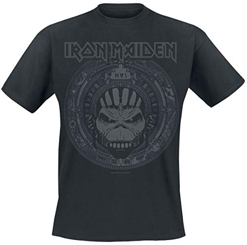 Iron Maiden Book of Souls Skull Uomo T-Shirt Nero L 100% Cotone Regular