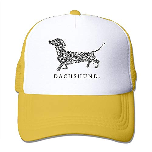 Preisvergleich Produktbild Voxpkrs Unisex Dachshund Doxen Weiner Word Art Dog Owner Gift 1 Two Tone Trucker Hat Mesh Ball Cap - The Great Outdoors Cool28328