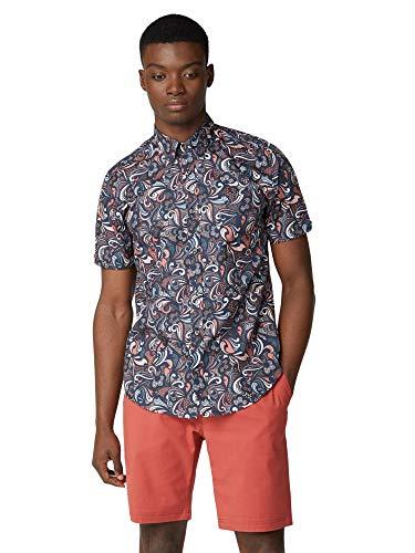Ben Sherman Signature Shirt, 0059126, Psychedelic Multi Print Shirt, Navy