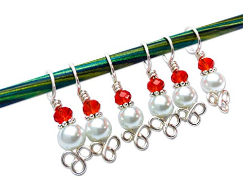 Celtic Knot and Pearl Stitch Markers for Knitting