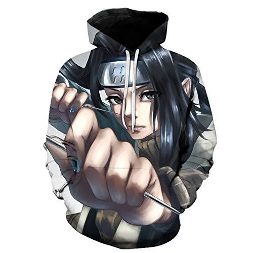 Sudadera con capucha para hombre y niño Naruto 3D con diseño gráfico de moda, sudadera de anime, casual con bolsillo, el mejor regalo para los fans de Naruto G4-S
