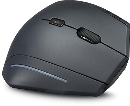 Speedlink MANEJO vertikale Wireless USB Maus - gelenkschonend und ergonomisch für PC/Notebook/Laptop, schwarz
