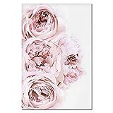 現代植物生花絵画水彩画ピンク牡丹壁アート写真ポスター減圧室オフィスリビングルーム家の装飾(フレーム付き)40x60cmx1