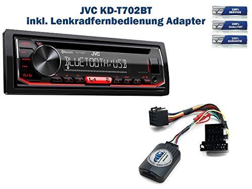 Autoradio KD-T702BT geeignet für Alfa Romeo 147 | 156 | GT inkl. Lenkrad Fernbedienung Adapter