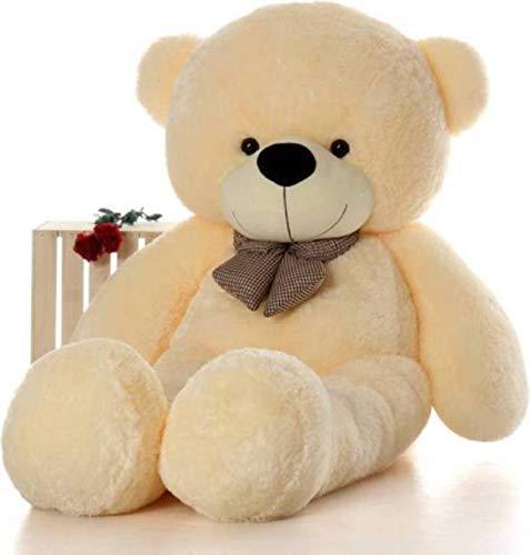 EMUTZ Soft Polyester 3 Feet Lovable/Huggable Teddy Bear with Neck Bow (Cream,...
