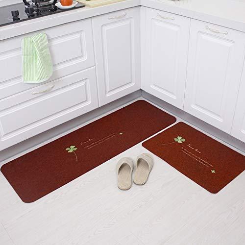 Didian Keukenmatten, absorberend, oliebestendig, tapijtmatten, deurmatten, anti-slip deurmatten, voor huis slaapkamer, rood, 50 x 80 + 50 x 120 cm