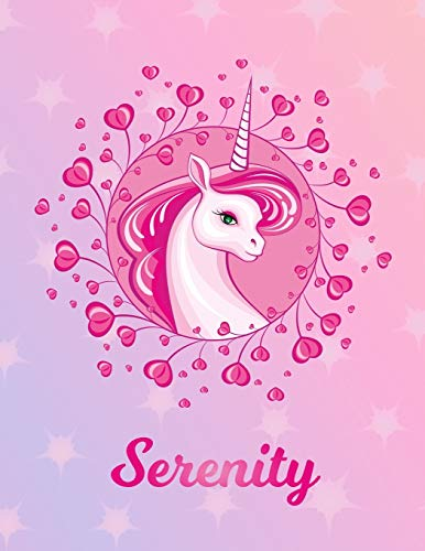 Serenity: Unicorn Sheet Music Note Manuscript Notebook Paper – Magical Horse Personalized Letter S Initial Custom First Name Cover – Musician Composer … Notepad Notation Guide – Compose Write Songs
