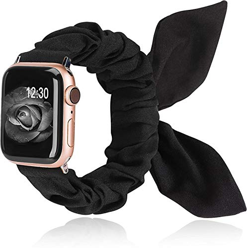 JWWLLT Toyouths Scrunchies Strap for Apple Watch 38mm / 42mm Bouthefly Bow Cloth 2020 Tela de Las Mujeres Correa de Tela para iWatch 5 4 3 2 1 40mm / 44mm