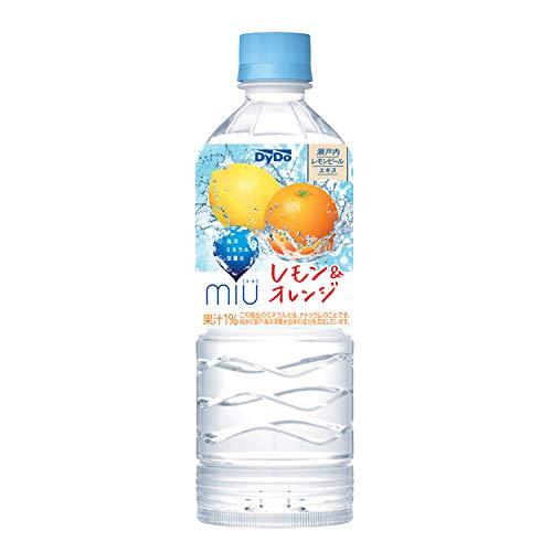 ミウ レモン&オレンジ 550ml×24本 PET