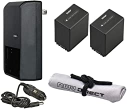 Sony PXW-X70 High Capacity Intelligent Batteries (2 Units) + AC/DC Travel Charger + Microfiber Cleaning Cloth.