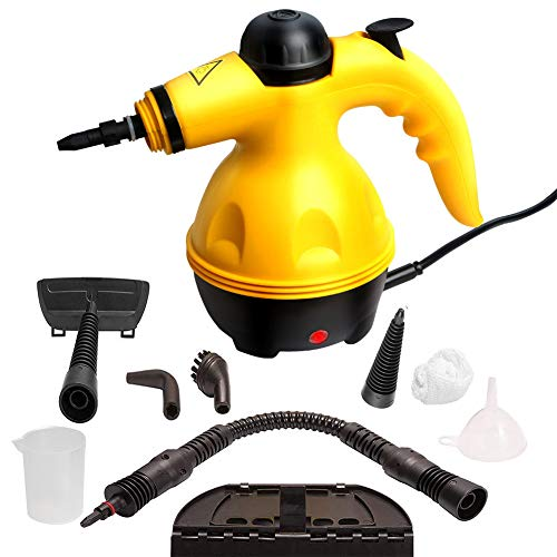 heyesupio Handheld Steam Cleaners Multi-Purpose Hand Steamer Pressurized Cleaner for Multi-Surface Stain Removal Curtains Carpets Sofa Steam Cleaner Fabric with 9-Piece Accessory Set