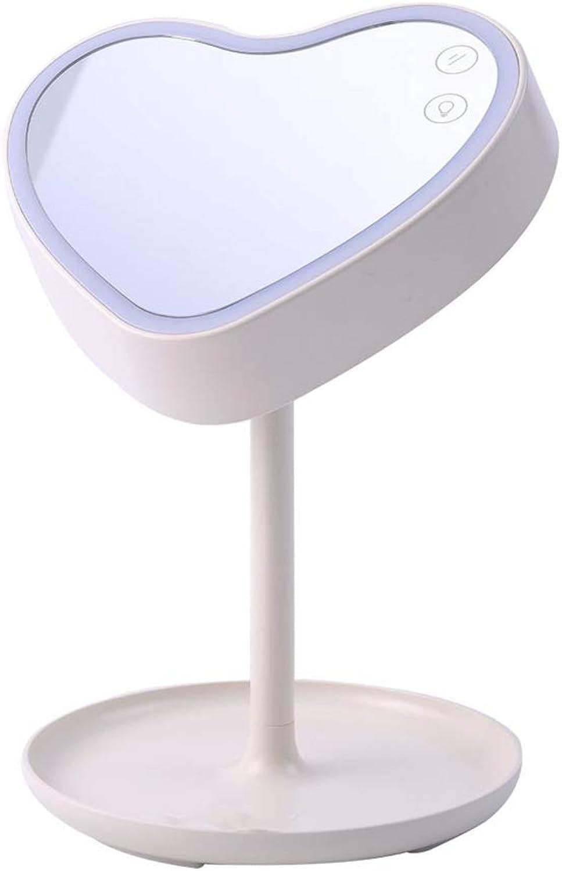 ZOYNZ Moderne Minimalistische Kosmetikspiegel Tischlampe Niedliche Persnlichkeit Multifunktionale Nachtlicht Intelligente Dekorative Tischlampe (Wei)