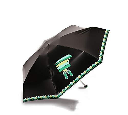 Regenschirm Mini Kompakte Sun &rain Reise Regenschirm Mit Flachen Griff - Anti-uv Sun Lightweight Portable Outdoor