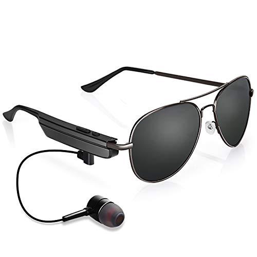 Bias&Belief Gafas de Sol inalámbricas con Bluetooth Auriculares Bluetooth estéreo inalámbricos de diseño liviano Gafas de Sol para Actividades al Aire Libre,Negro