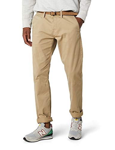 TOM TAILOR Herren Essential Chino Solid Hose, Braun (Chinchilla 11018), 32W / 34L