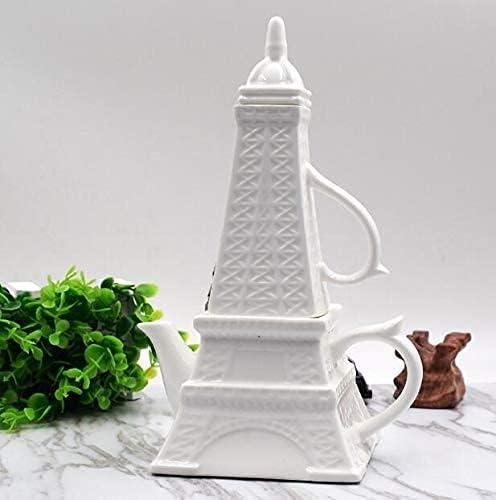HUAXUE Cheap Houston Mall Teapot Japanese, 1Set Eiffel Ceramic Pottery T Tower