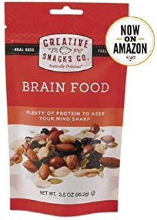 Creative Snacks Naturally Delicious Brain Food Trail Mix Snacks, 6 Individual Packs, 3.5 ounces each