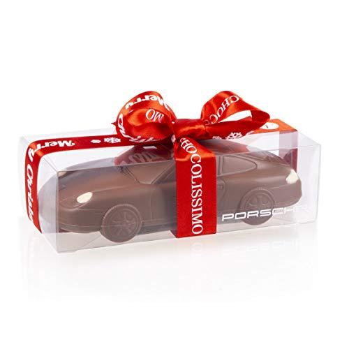 Xmas Porsche 911 Carrera - Schokoladen-Auto zu Weihnachten   Schokolade   Auto aus Vollmilchschokolade   Geschenk für Autoliebhaber   Kinder   Erwachsene   lustige Geschenkidee   Mann   Frau   Männer