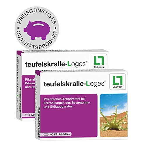 teufelskralle-Loges® 4-Monatspackung - Konzentrat bei Gelenkschmerzen - Pflanzliches Arzneimittel mit einem hochdosierten Extrakt aus der Teufelskrallenwurzel - für mehr Beweglichkeit - 200 Tabletten
