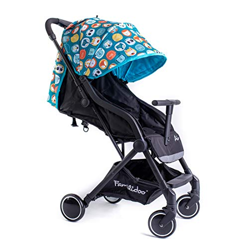 Familidoo Air Lightweight Baby Stroller | Easy One Handed Folding Pushchair | Use From Newborn To Toddler | Panda Blue