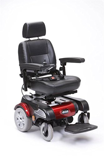 Drive Medical pcmm07rd 19-inch SUNFIRE Plus GT Silla de ruedas eléctrica -ROJO
