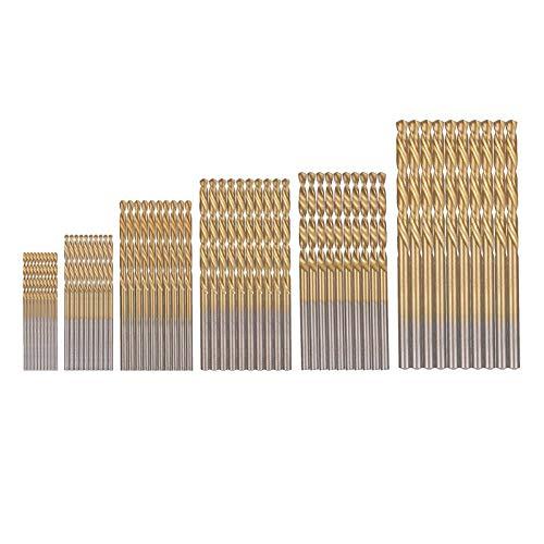 Chutoral 60Pcs HSS Micro Drill Bit Set Titanium Coated Drill Bit High Speed Steel Metal Twist Drill Bit Set Tools 1mm 1.5mm 2mm 2.5mm 3mm 3.5mm
