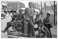 ポスター ラッセル リー Sunday Best (Chicago Boys 1941) 額装品 アルミ製ハイグレードフレーム(ホワイト)